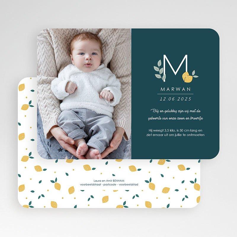 Geboortekaartjes Jongen Precious Lemon gratuit