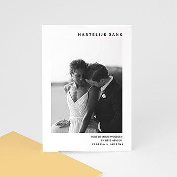 Bedankkaarten huwelijk met foto - Zomers Geel - 0
