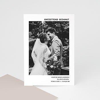 Bedankkaarten huwelijk met foto - Mokka Creme - 0