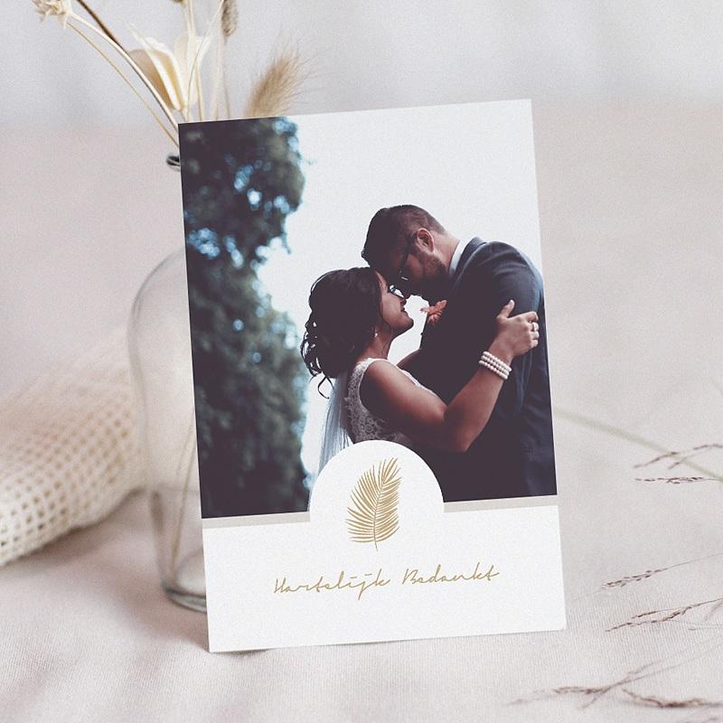 Chique bedankkaartjes huwelijk - Palm Springs 66904 thumb