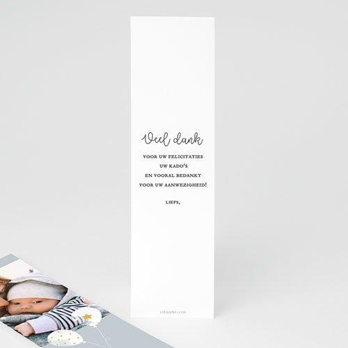 Bedankkaart doopviering jongen Peaceful 2 pas cher