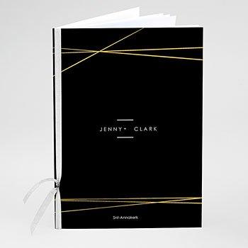 Boekomslag voor kerkboekje - Minimalist black - 0