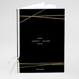 Boekomslag voor kerkboekje Minimalist black