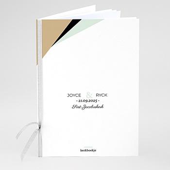 Boekomslag voor kerkboekje - Groen & Goudfolie - 0