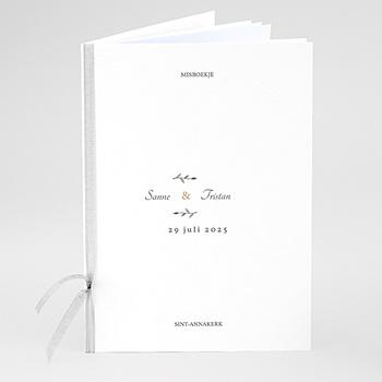 Boekomslag voor trouwboekjes - Vintage bladeren - 0