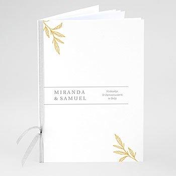 Boekomslag voor trouwboekjes - Minimal Botanical - 0