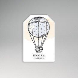 Etiket geboorte Luchtballon