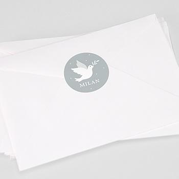 Stickers Doopsel - Grijs duifje - 0