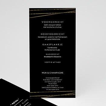 Menukaarten huwelijk - Minimalist Black - 0