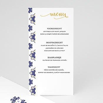 Menukaarten huwelijk - Bleu Ottoman - 0