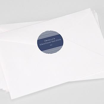 Stickers Huwelijk - Blauw Strepen - 0