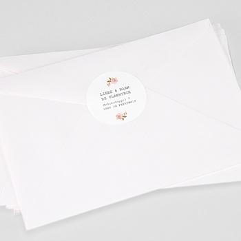 Stickers Huwelijk - Botanisch Roze - 0