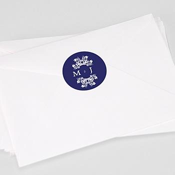 Stickers Huwelijk - Blauw oosterse - 0