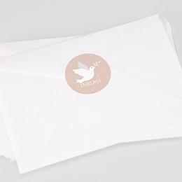 Stickers Doopsel Roze duifje