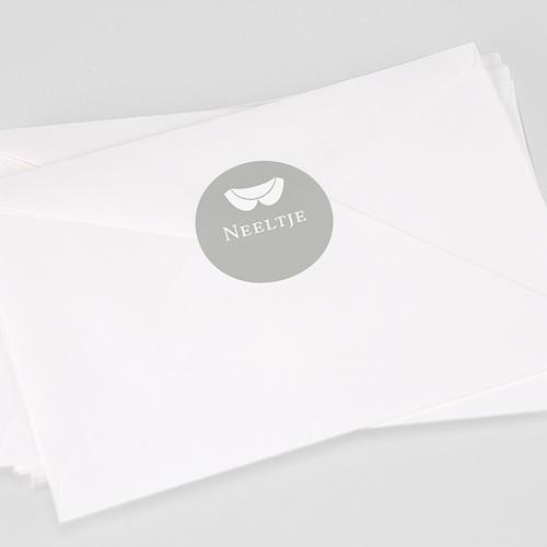 Stickers Doopsel Kraag wit