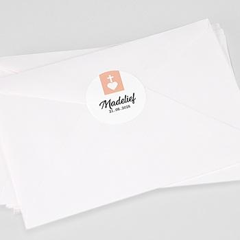 Stickers Doopsel - Heilig hart roze - 0
