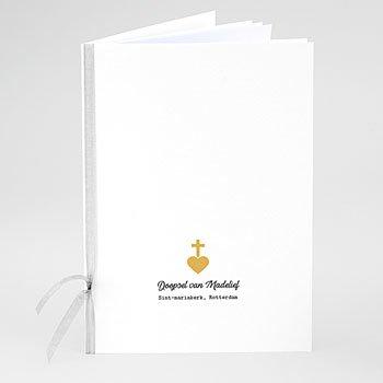 Boekomslag voor doopboekjes - Kruis en Goud - 0