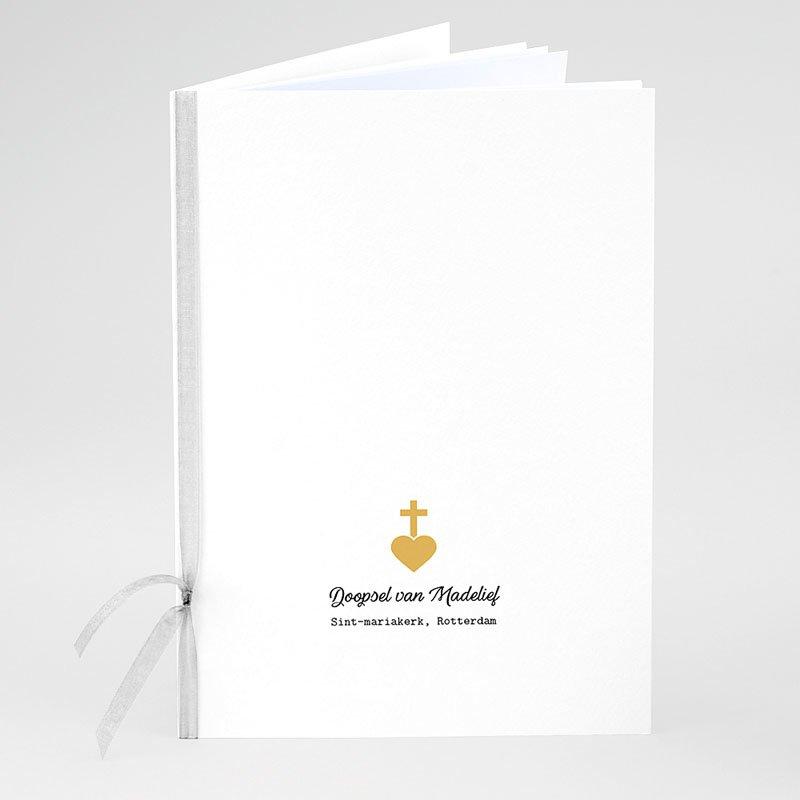 Boekomslag voor doopboekjes Kruis en Goud