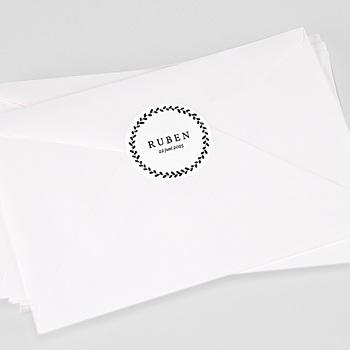 Stickers Doopsel - Black Floral - 0