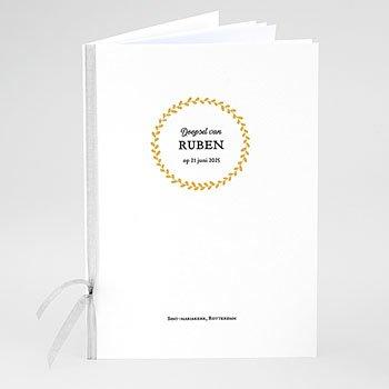 Boekomslag voor doopboekjes - Doopsel in goud - 0