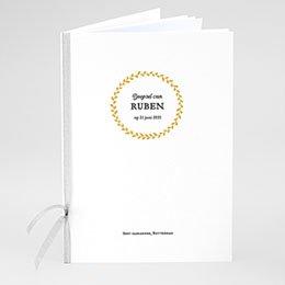 Boekomslag voor doopboekjes Doopsel in goud