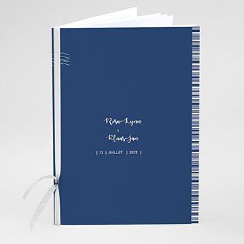 Boekomslag voor kerkboekje - Blauw Wedding - 0