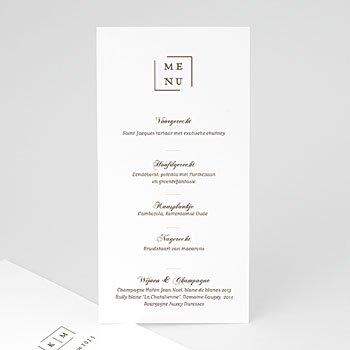 Menukaarten huwelijk - Modern & Nude - 0