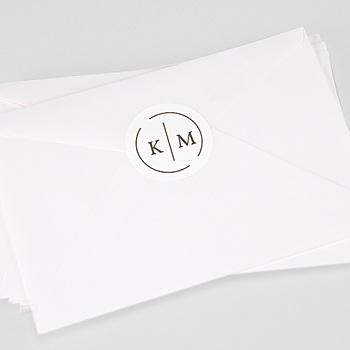 Stickers Huwelijk - Modern Initials - 0