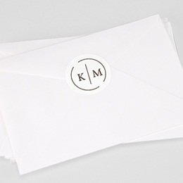 Stickers Huwelijk Modern Initials