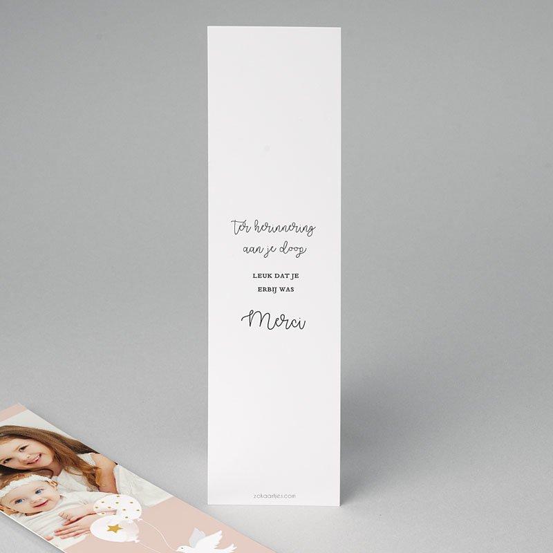 Bedankkaart doopviering meisje Peacefully 2 pas cher