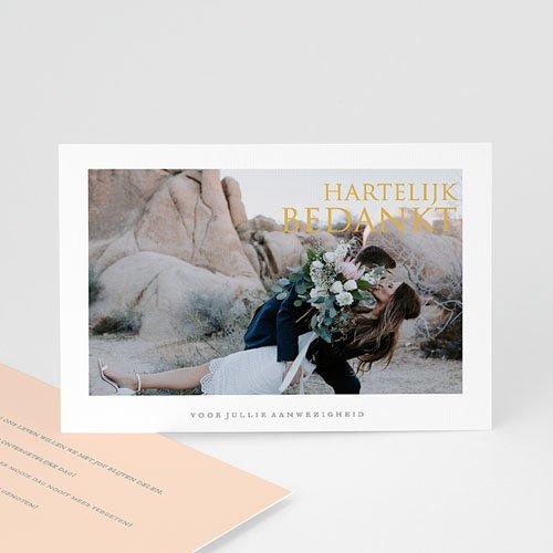Bedankkaarten huwelijk met foto - Sleekly Simple 67629 thumb