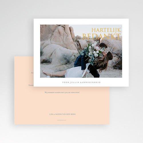 Bedankkaarten huwelijk met foto - Sleekly Simple 67630 thumb