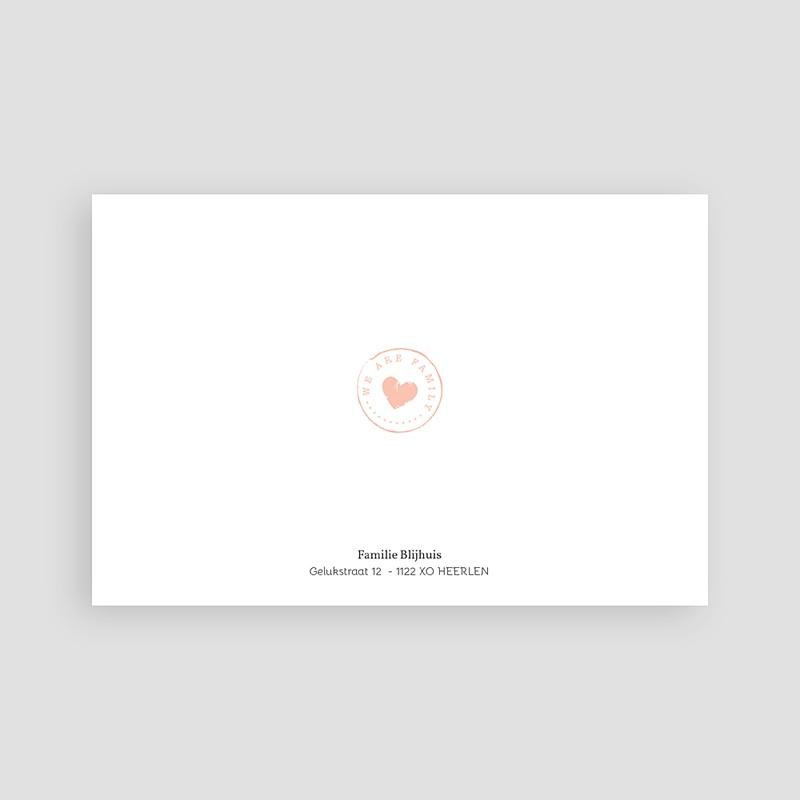 Geboortekaartje meisje - Schoolbord hart 67693 thumb