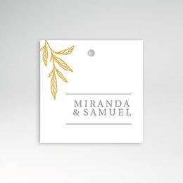 Etiket huwelijk Minimal Botanical