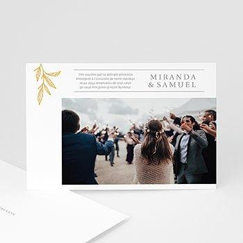 Chique bedankkaartjes huwelijk - Minimal Botanical - 0