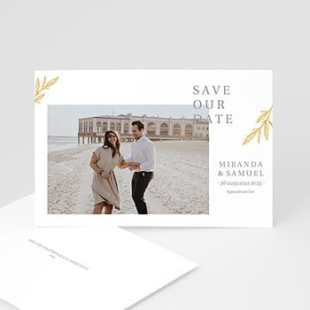 Save the date kaartjes - Minimal Botanical - 0