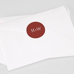 Stickers Huwelijk Burgundy initials