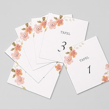 Tafelnummer - Botanisch Roze - 0