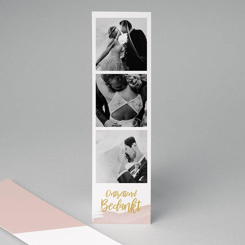 Bedankkaarten huwelijk met foto - Boho Waterverf 67976 thumb
