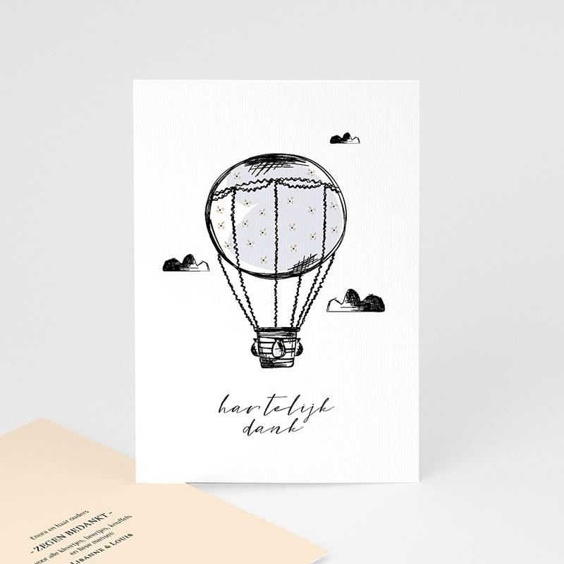 Bedankkaartjes geboorte zonder foto Luchtballon