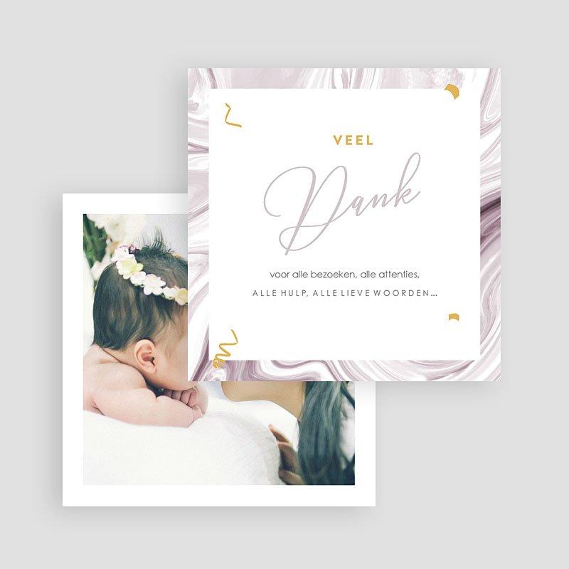 Bedankkaartje geboorte dochter - Baby Girl 68019 thumb