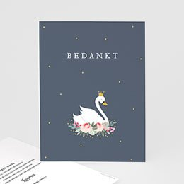 Bedankkaartjes Geboorte Prinses zwaan
