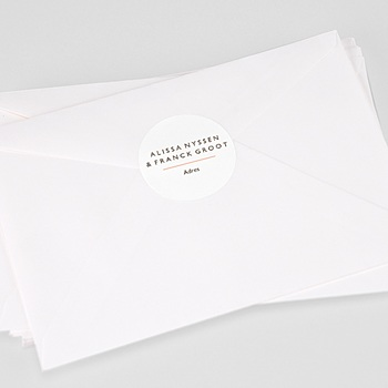 Stickers Huwelijk - Color Touch - 0
