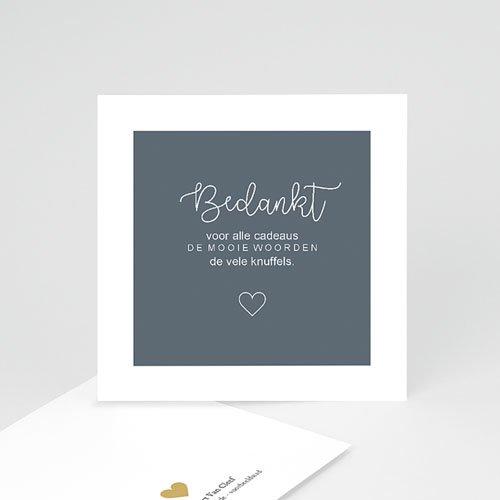Bedankkaartje geboorte zoon - Antraciet 68134 thumb