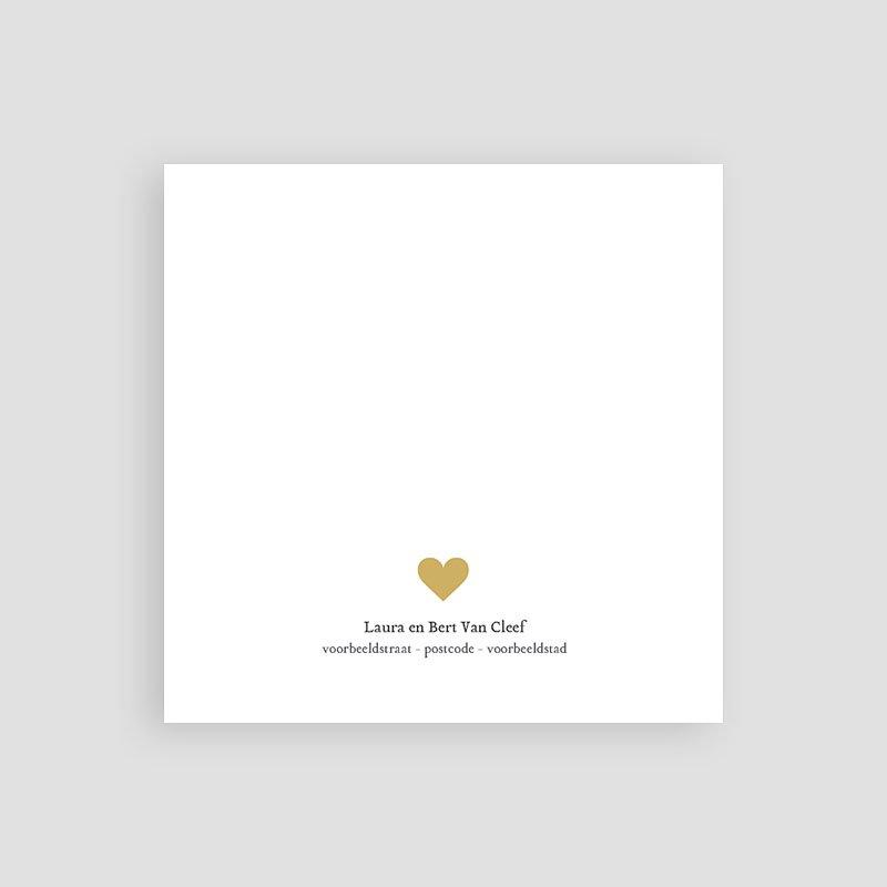 Bedankkaartje geboorte zoon - Antraciet 68135 thumb