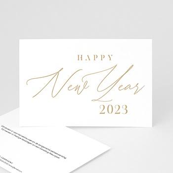 Professionele wenskaarten - Calligraphic Year - 0