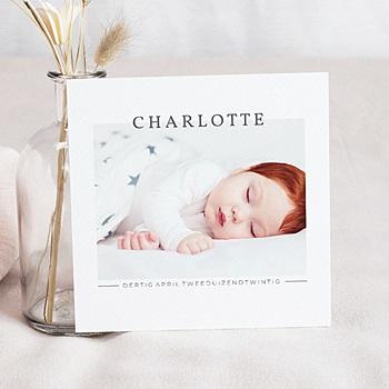 Geboortekaartjes met foto - Momentopname Baby - 0
