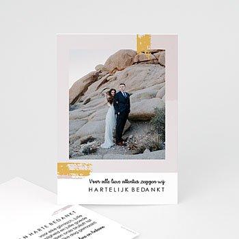 Bedankkaarten huwelijk met foto - Rozenkwarts - 0