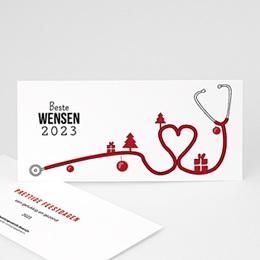 Professionele wenskaarten Nouvel An Stethoscoop 2