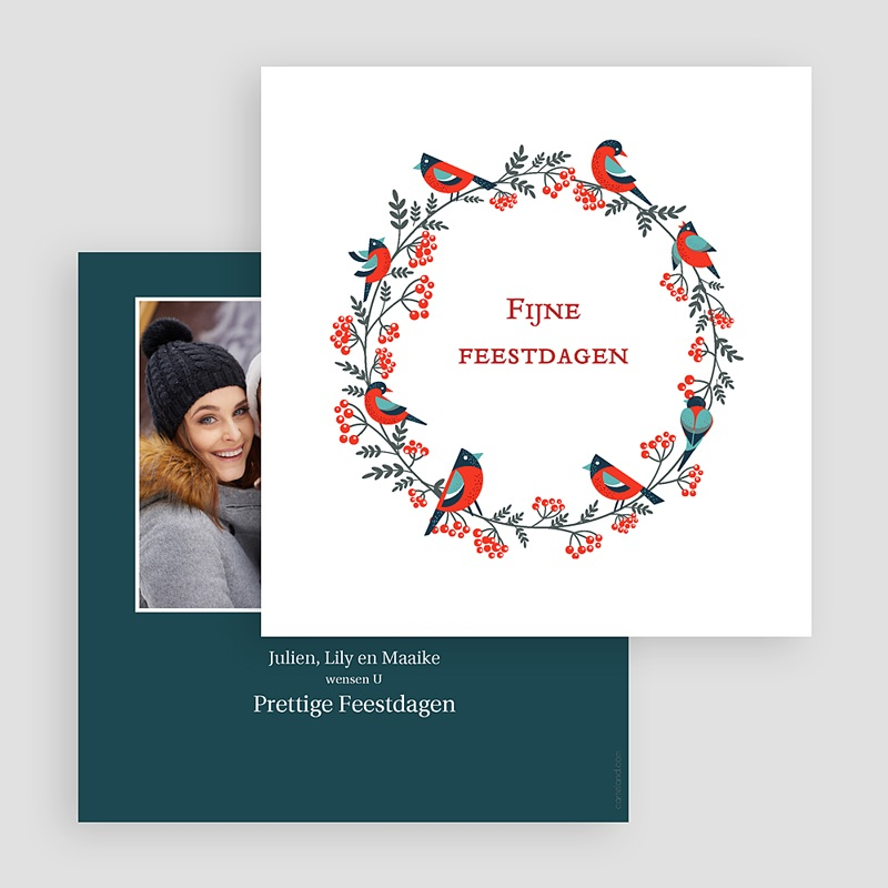 Kerstkaarten 2019 - Couronne de Noël 68464 thumb